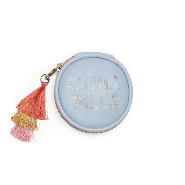 Vegan Leather Pill Box with Tassel - Chill Pills