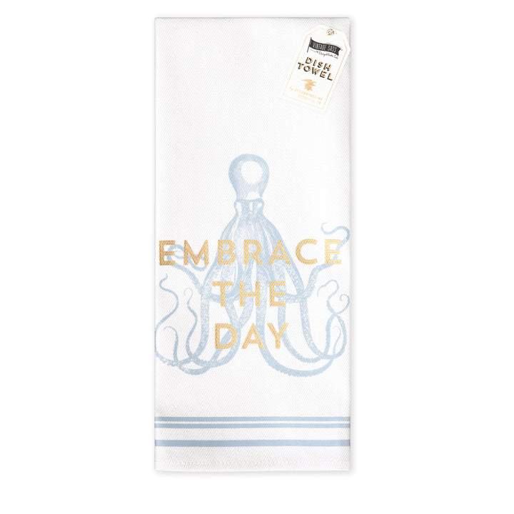 VINTAGE SASS DISH TOWEL | EMBRACE THE DAY