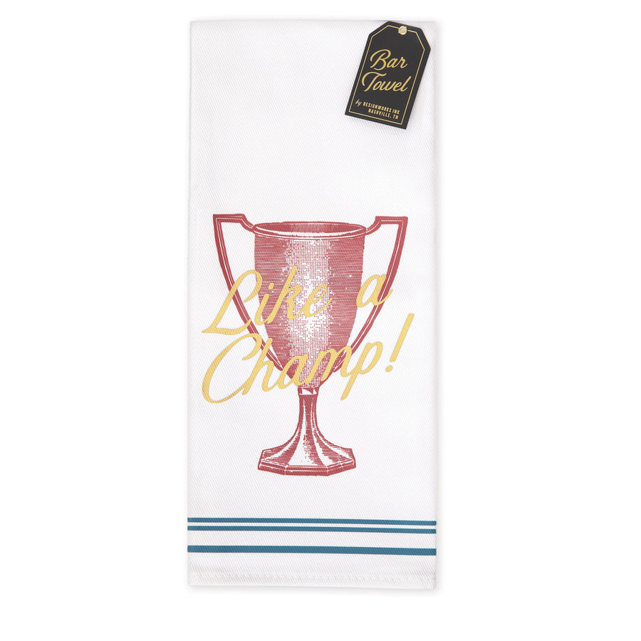 "BARWARE BAR TOWEL | ""LIKE A CHAMP!"""