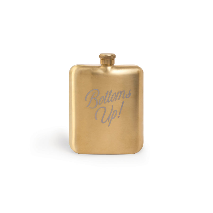"BARWARE HIP FLASK | ""BOTTOMS UP!"""