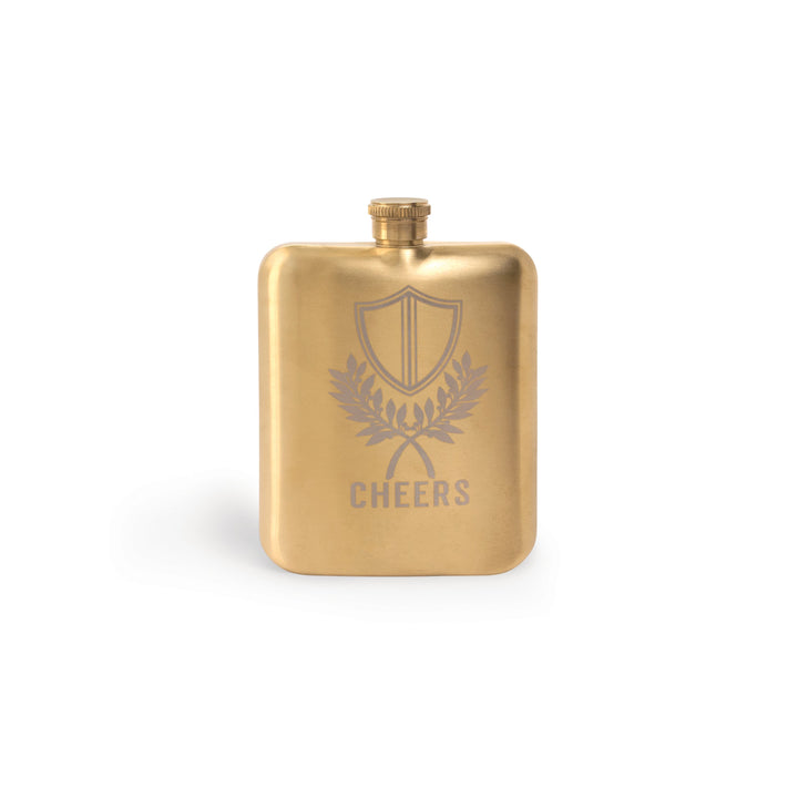 "BARWARE HIP FLASK | ""CHEERS"" CREST"