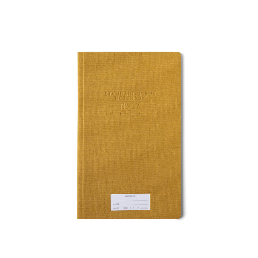 STANDARD ISSUE TALL NOTEBOOK NO.17 | OCHRE