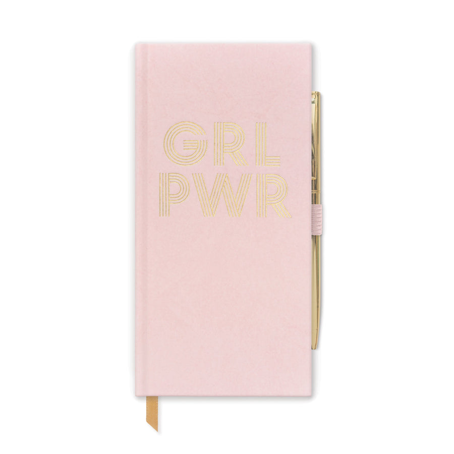 "SKINNY JOURNAL WITH PEN | ""GRL PWR"""