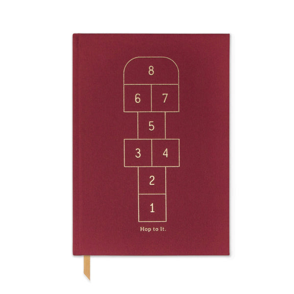 HARD COVER JOURNAL WITH POCKET | HOP TO IT