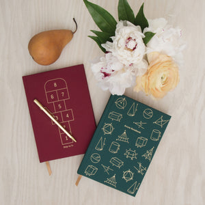 "HARD COVER JOURNAL WITH POCKET | ""ACUTE NOTEBOOK"""