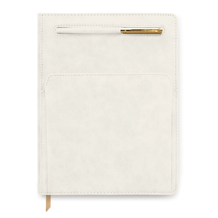 VEGAN LEATHER POCKET JOURNAL | SOLID IVORY