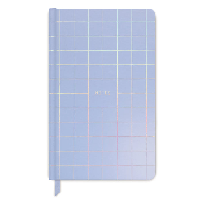 "HARD COVER JOURNAL | IRIDESCENT GRID ""NOTES"""