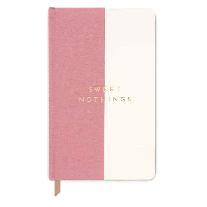 "CLOTH 'HALFSIES'  JOURNAL | DUSTY PINK ""SWEET NOTHINGS"""