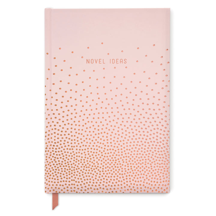 "HARD COVER JOURNAL | COPPER DOTS ""NOVEL IDEAS"""
