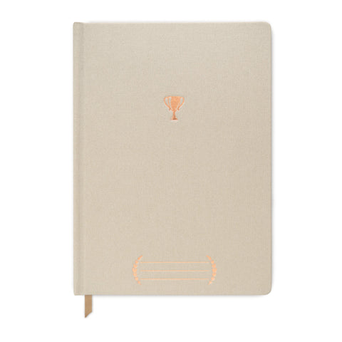 PEARLIZED METALLIC CLOTH JOURNAL | TROPHY