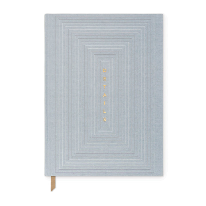 "LINEAR CLOTH JOURNAL | DUSTY BLUE LINEAR BOXES ""DETAILS"""
