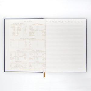 "LINEAR CLOTH JOURNAL | NAVY LINEAR GEO ""NOTES"""