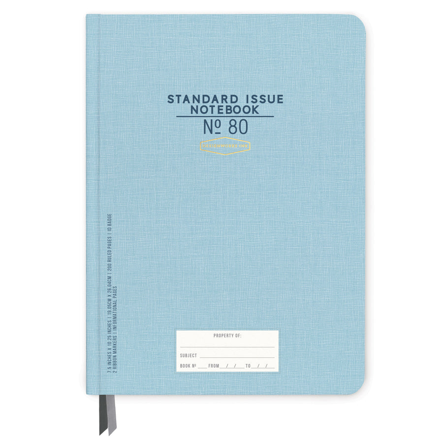 STANDARD ISSUE LARGE NOTEBOOK NO. 80 | BLUE
