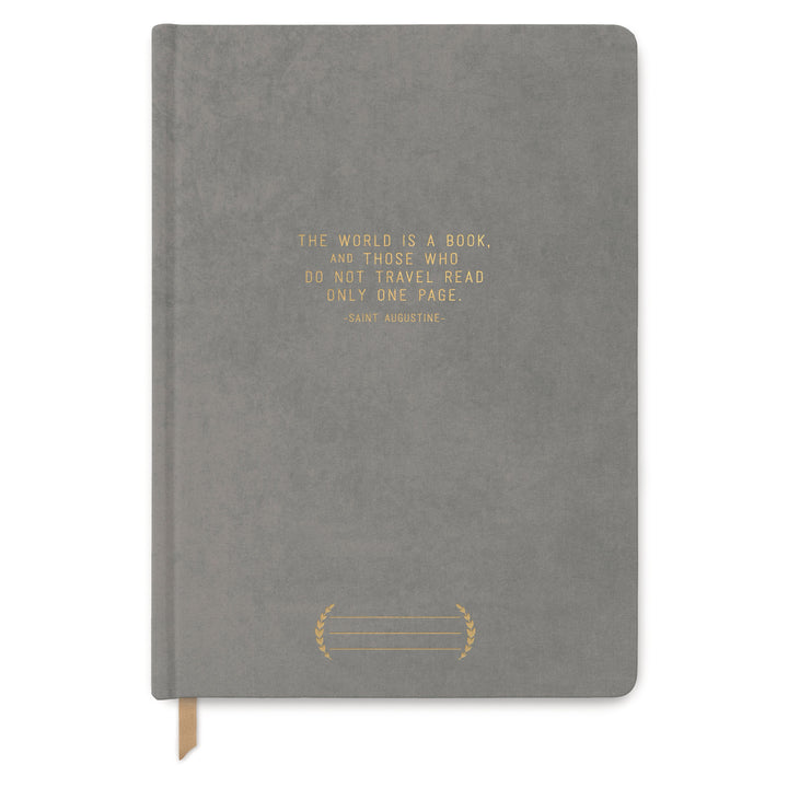 "CLOTH SUEDE JOURNAL | ""THE WORLD IS A BOOK"""