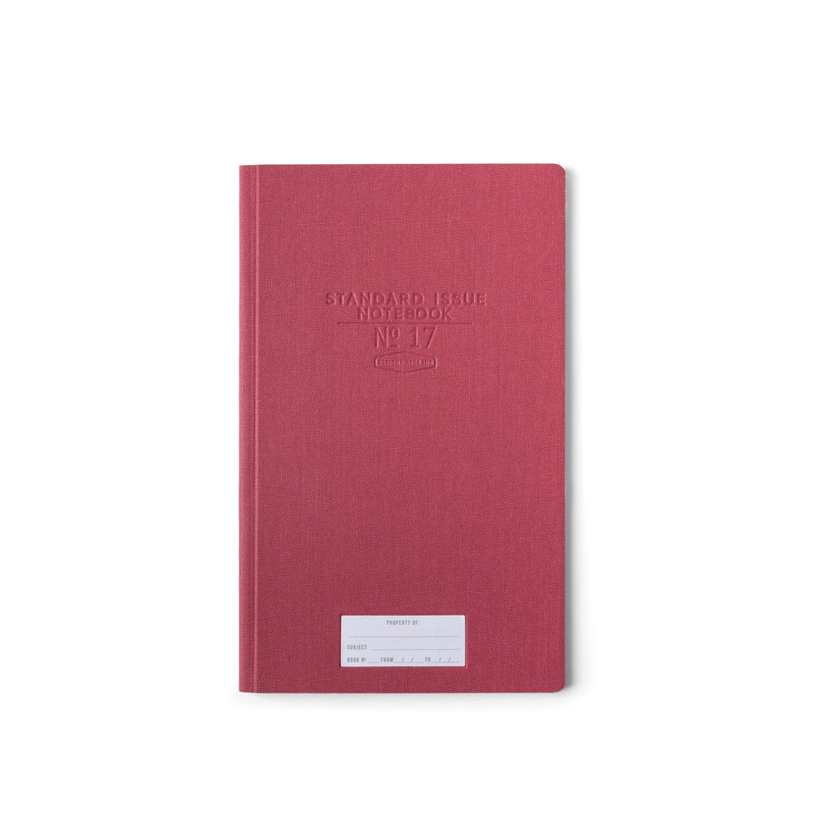 STANDARD ISSUE TALL NOTEBOOK NO.17 | BURGUNDY