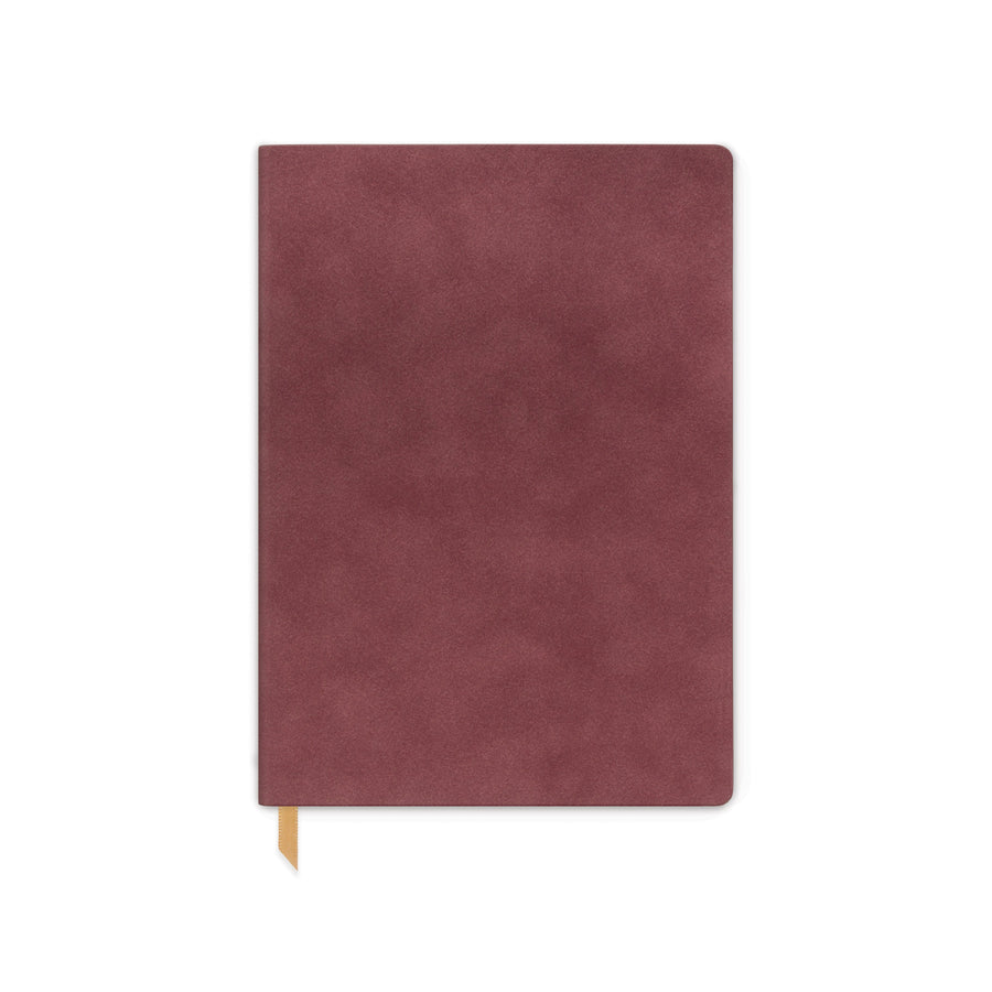 VEGAN SUEDE JOURNAL | BURGUNDY
