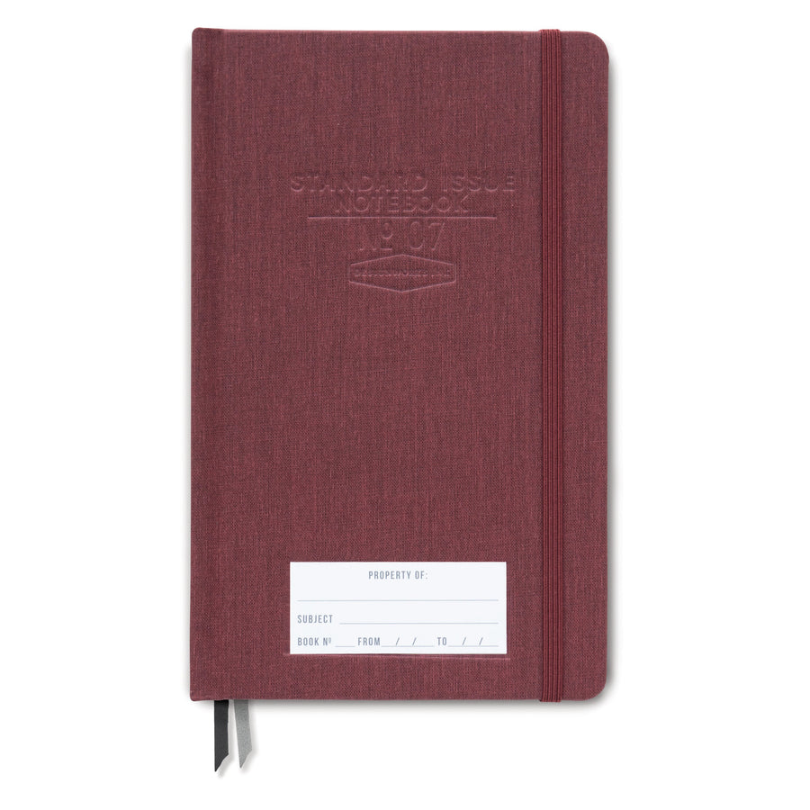 STANDARD ISSUE NOTEBOOK NO.07 | BURGUNDY