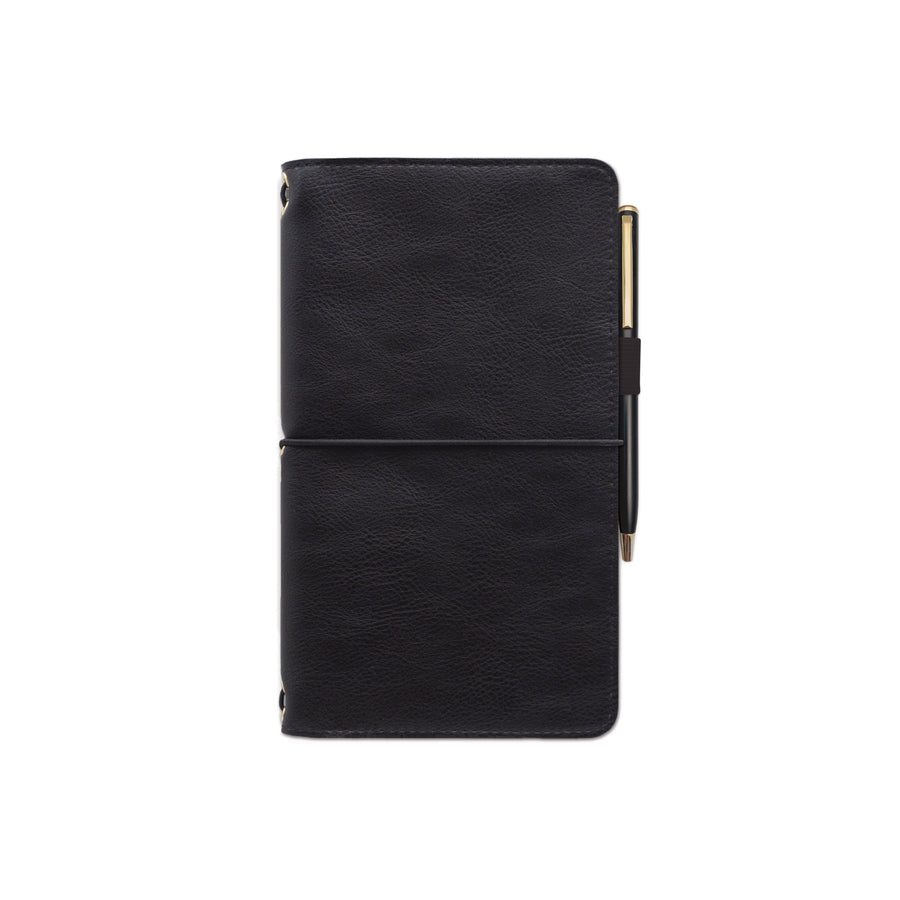 VEGAN LEATHER FOLIO | BLACK