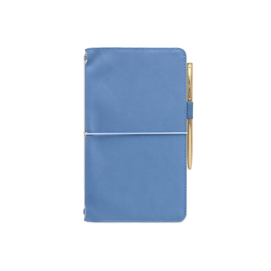 VEGAN LEATHER FOLIO | CORNFLOWER BLUE