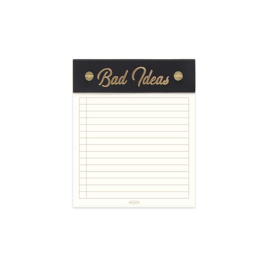 "POST BOUND NOTEPAD WITH CLOTH HEADER | ""BAD IDEAS"""