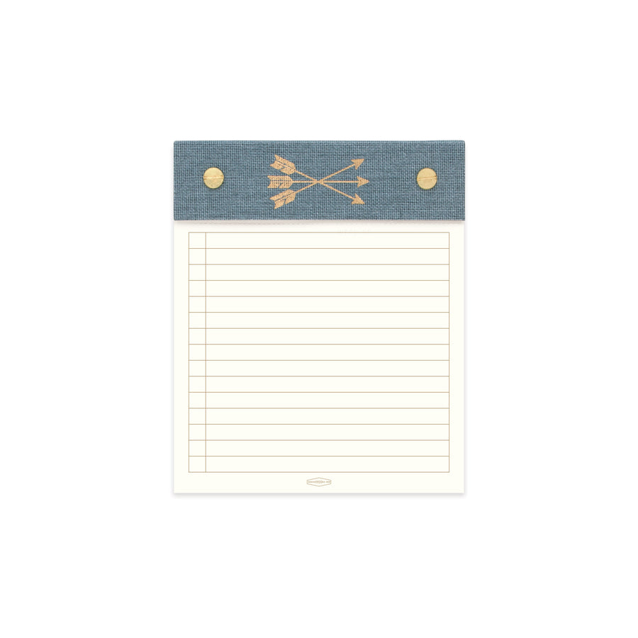 POST BOUND NOTEPAD WITH CLOTH HEADER | ARROWS