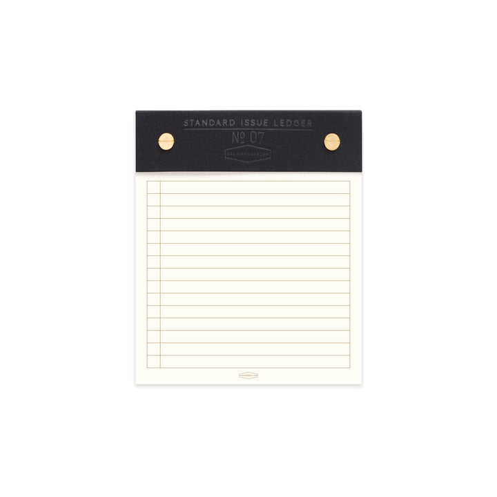 STANDARD ISSUE POST BOUND LEDGER NO. 07 | BLACK