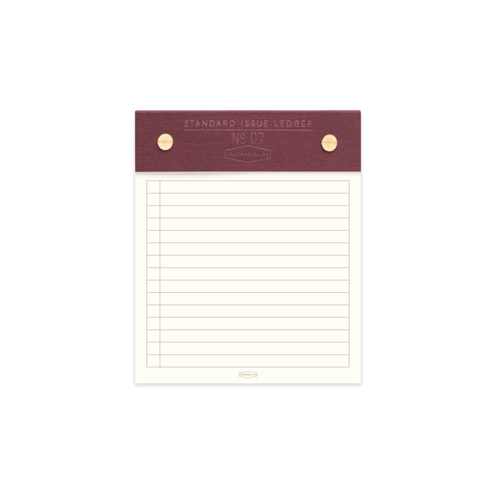 STANDARD ISSUE POST BOUND LEDGER NO. 07 | BURGUNDY