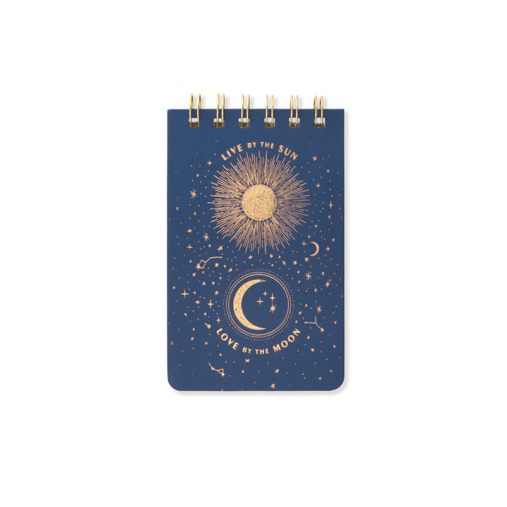 "CLOTH COVERED NOTEPAD | ""LIVE BY THE SUN"""