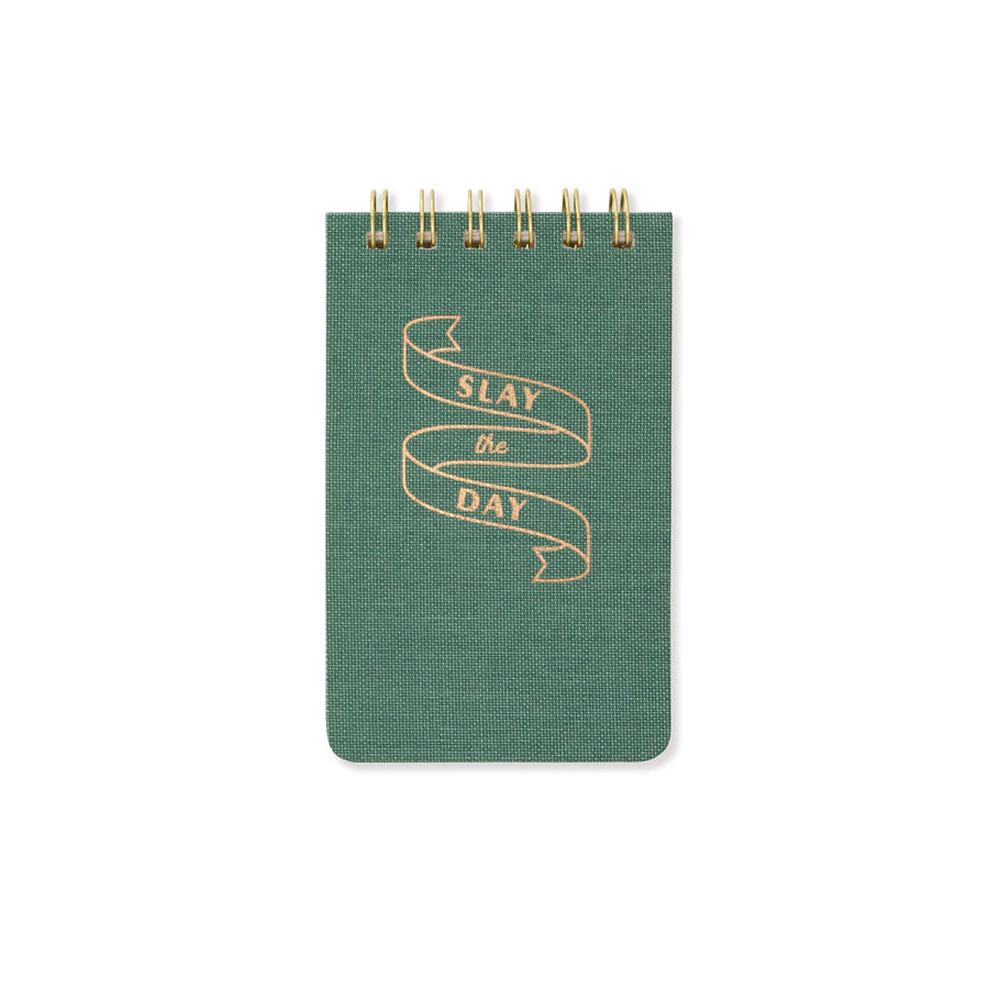 "CLOTH COVERED NOTEPAD | ""SLAY THE DAY"""