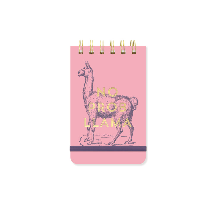 VINTAGE SASS WIRE-BOUND PURSE NOTES | NO PROB LLAMA