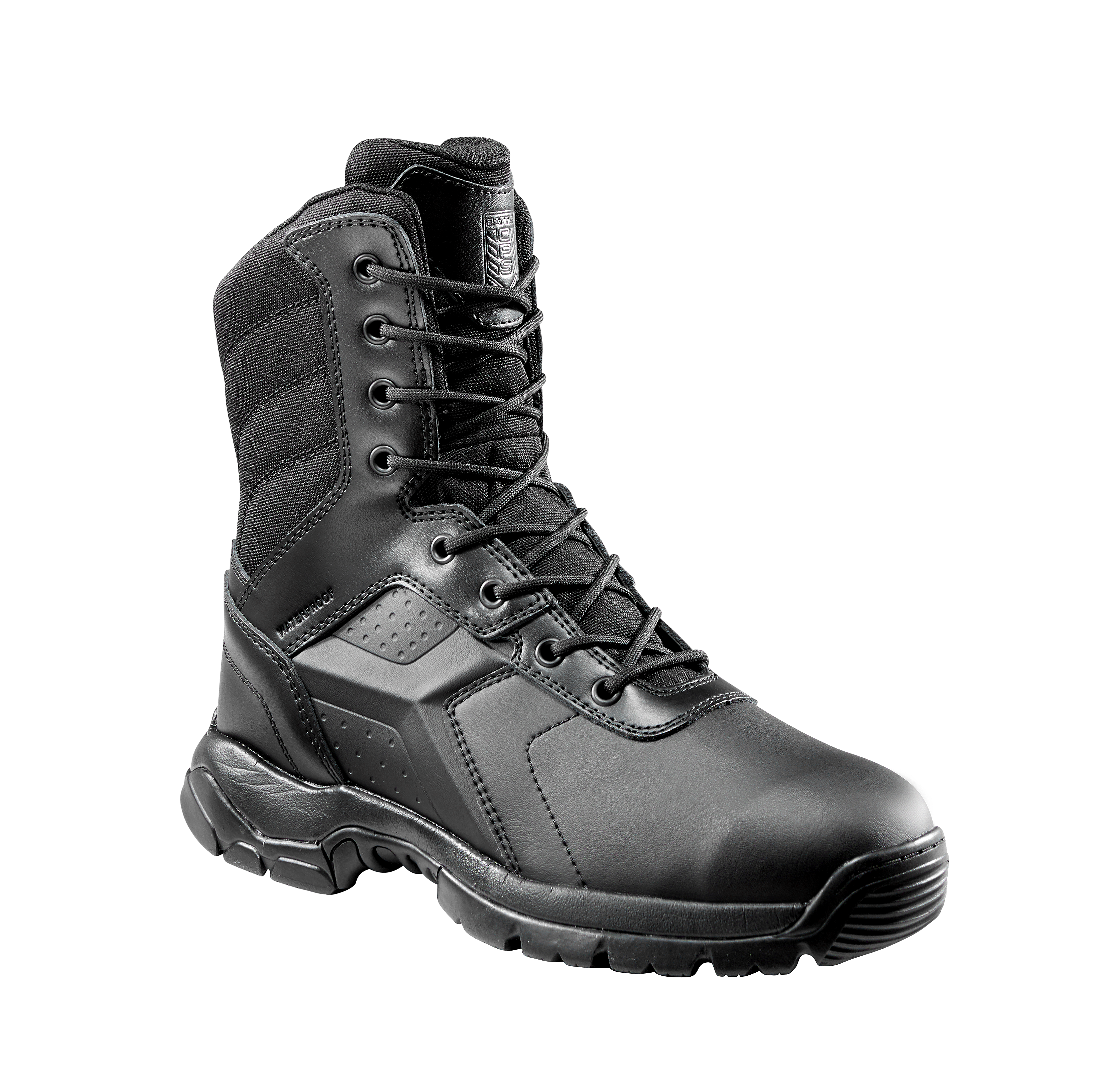 Black Tactical Boot with YKK Zipper Easy On /& Off