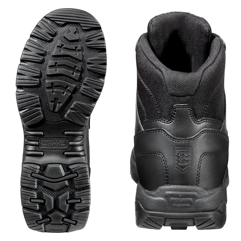 6-inch Waterproof Black Tactical Boot - Side Zip & Comp Safety Toe