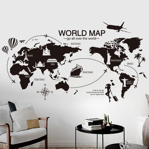 Original world map wall sticker fill my office original world map wall sticker gumiabroncs Image collections