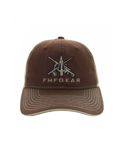 FHF Brown Logo Trucker Hat