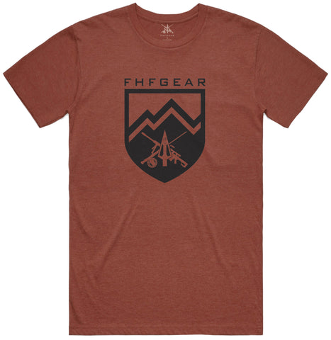 FHF Gear Icon T-Shirt- Red Clay