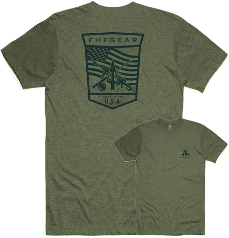 FHF Gear Tactical Patch T-Shirt- Military Green