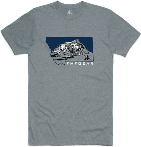 FHF Gear Montana T-Shirt - Stone Grey