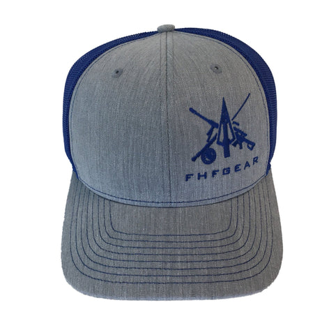 FHF Heather Grey/ Royal Hat