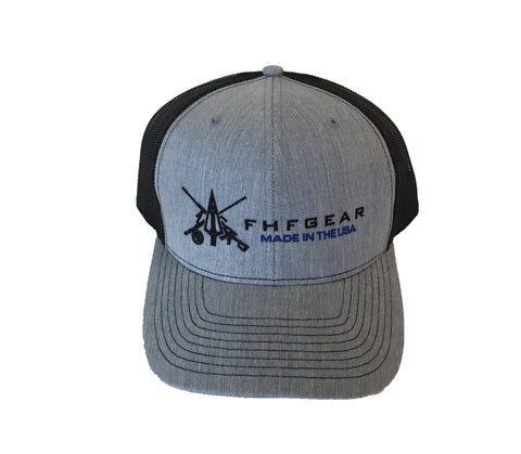 FHF Heather Grey, Black USA Hat