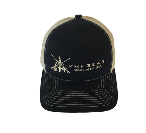 FHF Black/ Tan Hat
