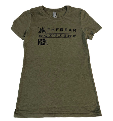 Ladies Fit- Fish.Hunt.Fight. T-Shirt