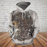 Skull 3D Hoodie_Girl and Moon