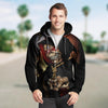 Skull 3D Zip Hoodie_Dance of death