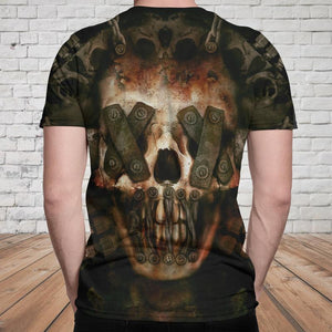 Skull 3D T-shirt_No Speak No Hear Skull