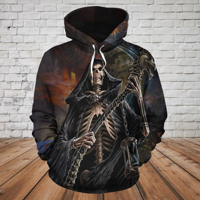 Skull 3D Hoodie_Lord of Time
