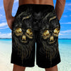Skull 3D Shorts_Melting Skull