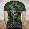 Skull 3D T-shirt_Evil Skull and Dragon