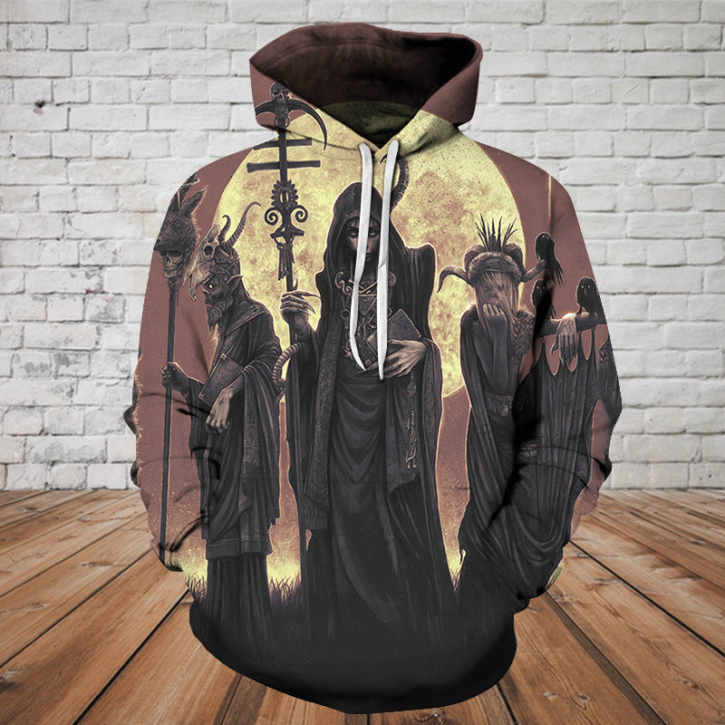 Skull 3D Hoodie - The Witch 0466