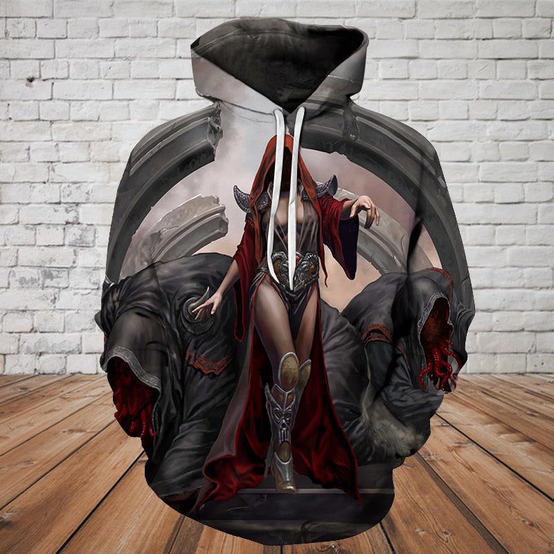 Skull 3D Hoodie - The Witch - 0497