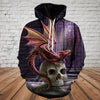 Skull 3D Hoodie - Skull and Dragon 0541